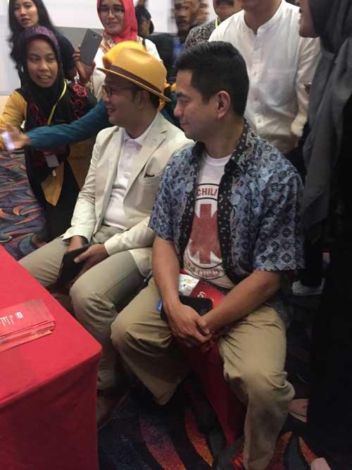 Ridwan Kamil dan Martin Hartono di ajang City Creative Conference 2019 di Grand Dafam Ternate, Kamis (5/9/2019).)
