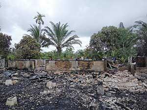 Rumah Warga Pematang Duku Ludes Terbakar