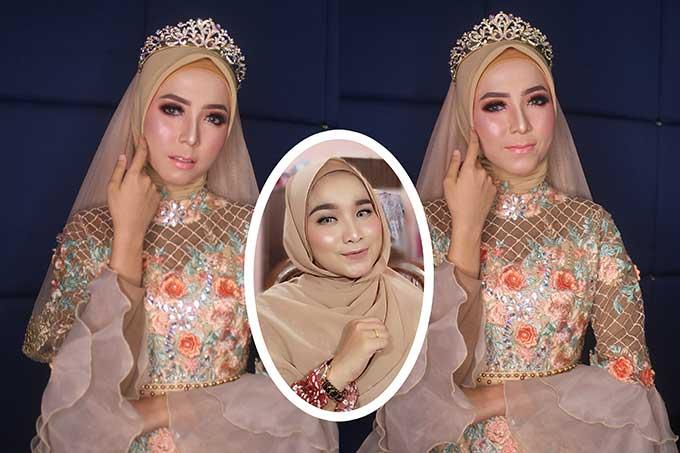 Ratu Sehari dengan Glamour Wedding Look