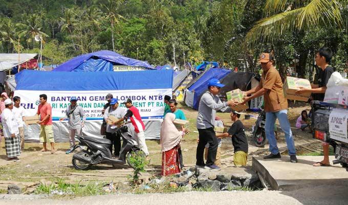 Bantuan Korban Gempa Lombok Terus Mengalir