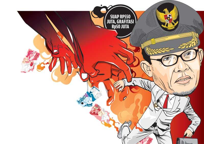 KPK Jerat Wako Dumai dengan Dua Kasus