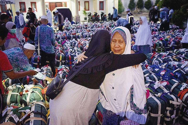 Jamaah Disambut Tangis Haru Keluarga