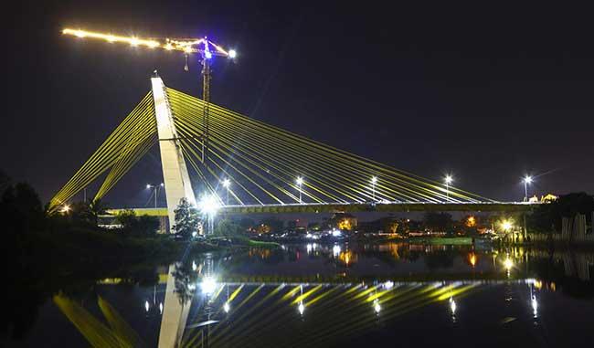 Akhir Februari Jembatan Alamuddin Syah Bisa Dilalui