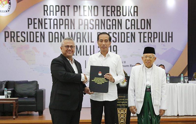 Resmi, Jokowi-Ma'ruf Tinggal Dilantik