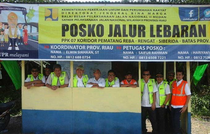 9 Posko Mudik di Riau, Ada Alat Berat dan Tukang Pijat