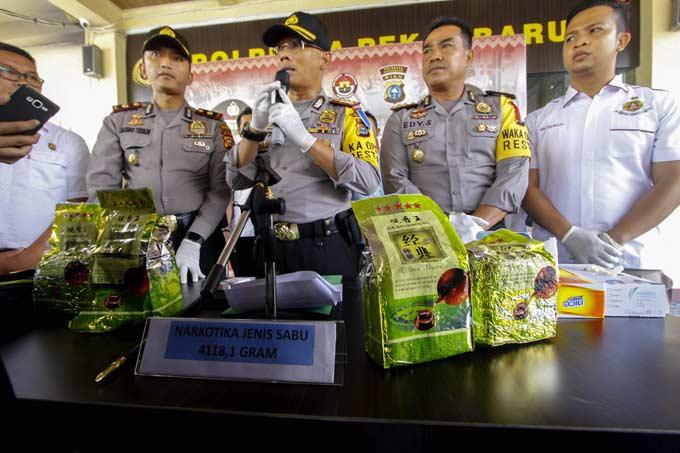 Sabu 4,1 Kg Bakal Diedarkan di Kampung Dalam