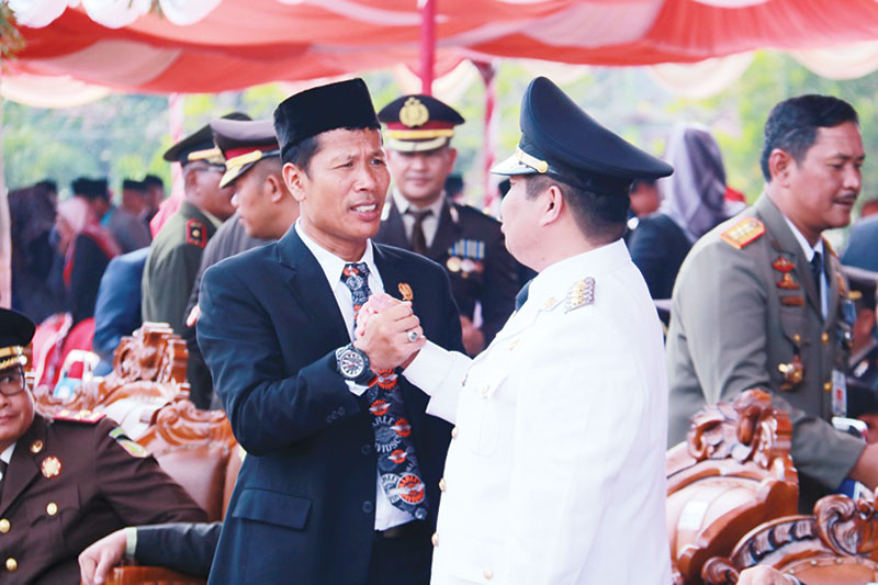 Pimpinan DPRD Bengkalis Didaulat Baca Teks Proklamasi