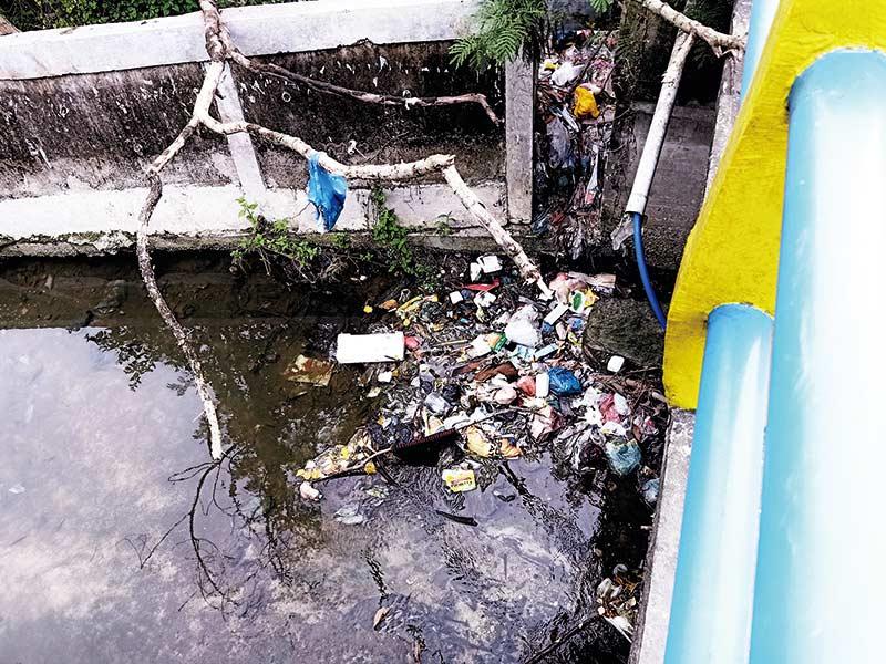 Lagi, Warga Keluhkan Sampah  Menggunung di Bahu Jalan dan Parit
