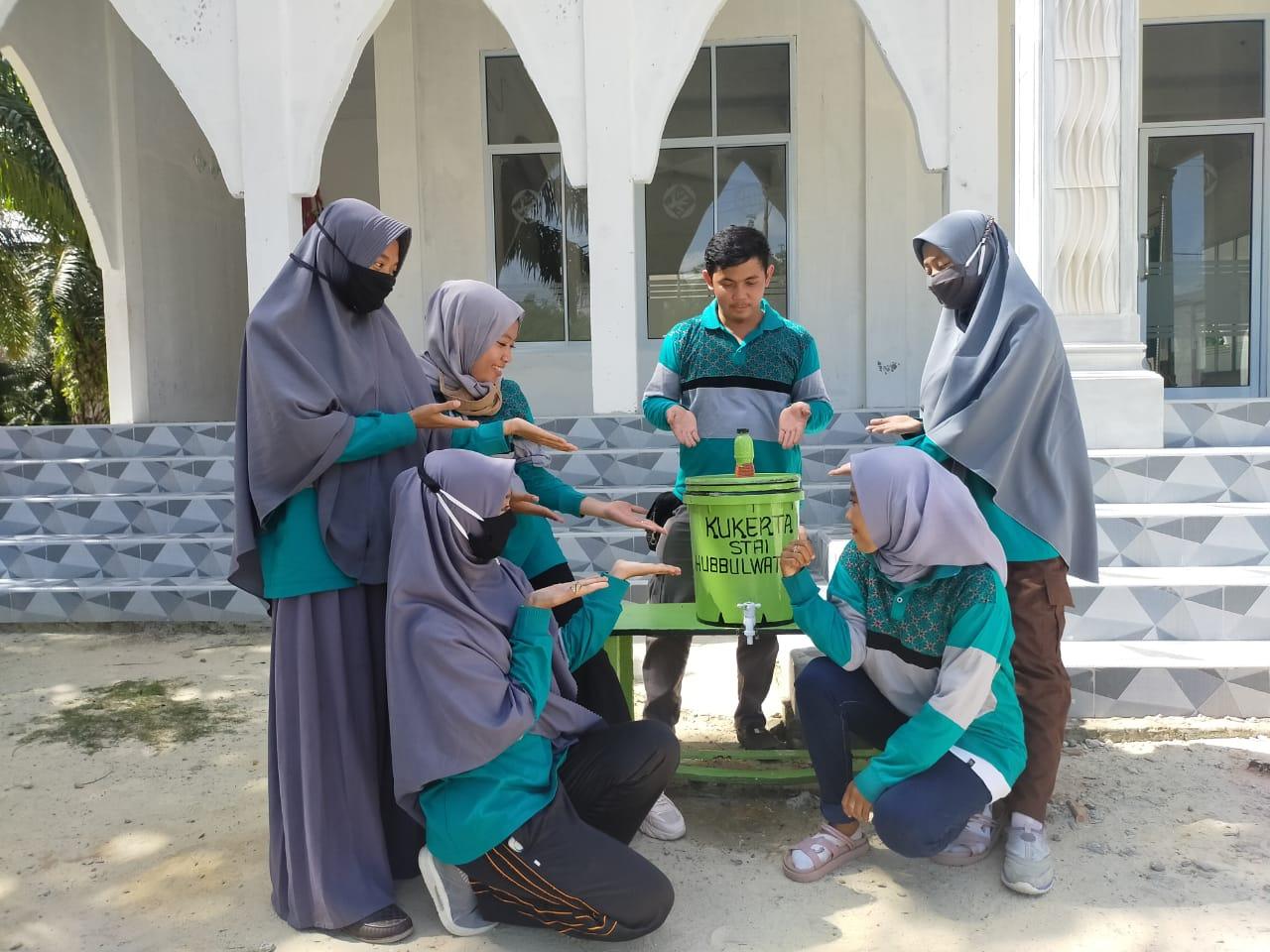 Mahasiswa KKN Hubbulwathan Ciptakan Alat Cuci Tangan dari Barang Bekas