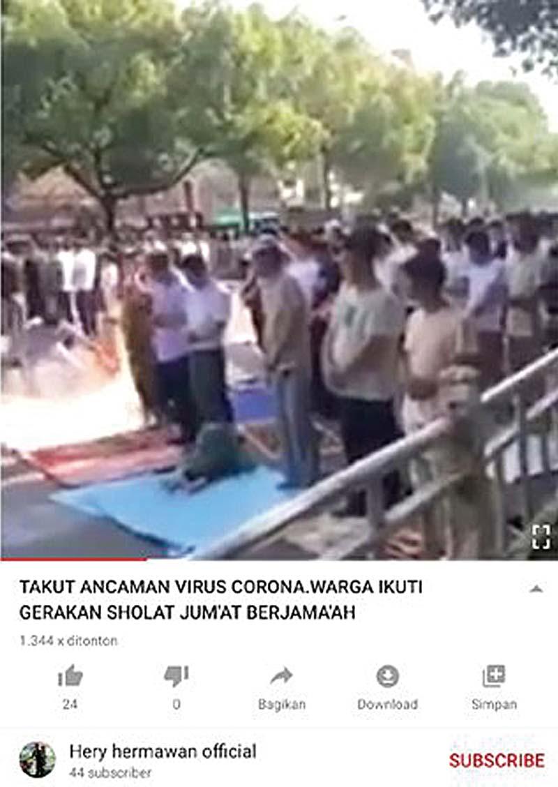 Video Salat Jamaah Tak Terkait Virus Corona