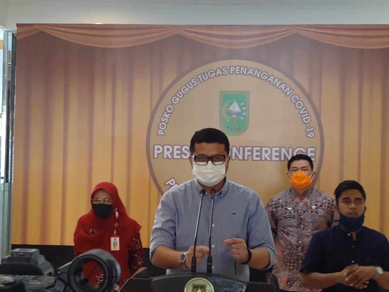 Tiga Tambahan Positif Warga Luar Riau, Pasien Meninggal Warga Kampar