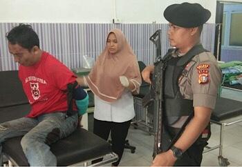 Bukan Rampok, MG Ancam dan Siram BBM di Bank BNI Dumai