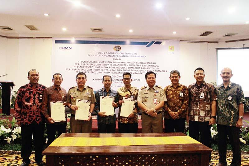 PLN dan BPN Riau Teken Perjanjian Kerja Sama