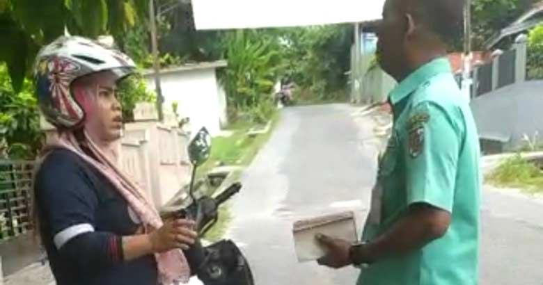 Mengamuk Kena Tilang Sampah