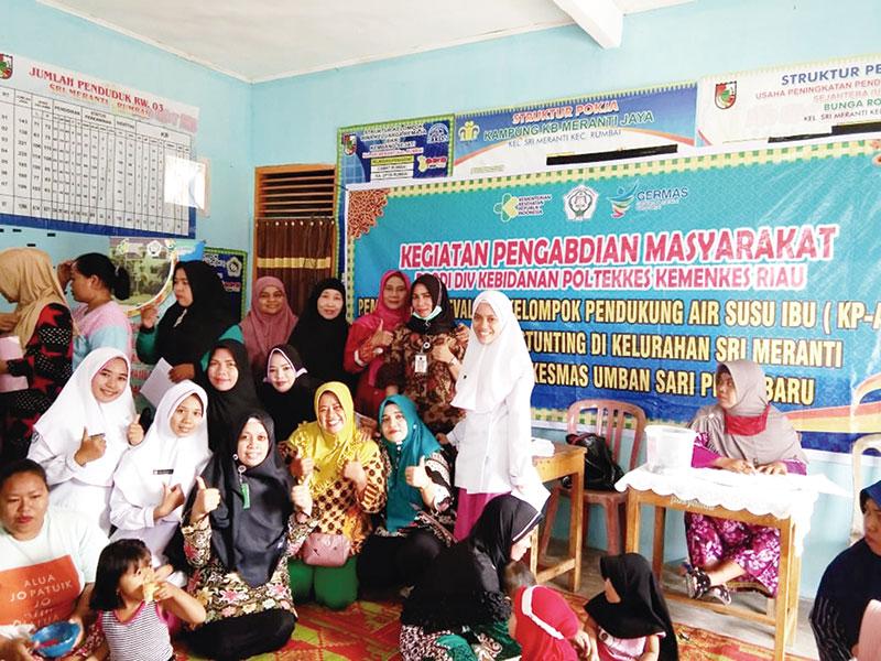Pemberian ASI bagi Anak Rendah, Poltekkes Kemenkes Riau Taja Kegiatan Pengabmas