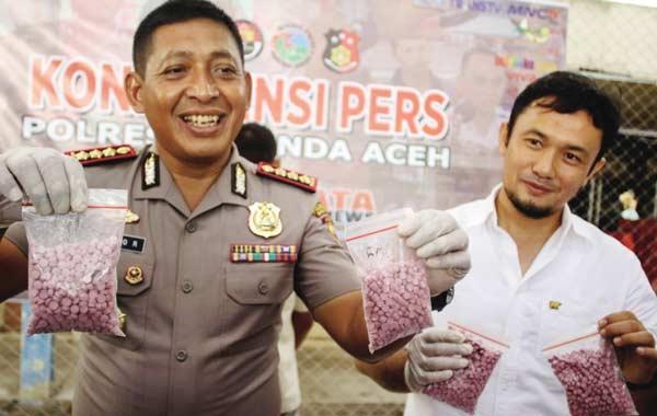 Polisi Amankan 5.000 Butir Pil Ekstasi