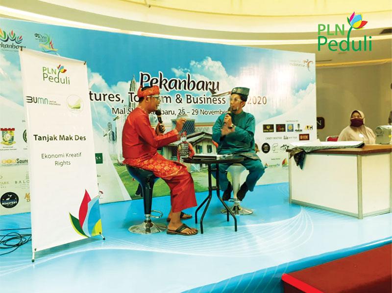 Lestarikan Budaya Melayu, PLN Sukses Bina UMKM Tanjak Mak Des