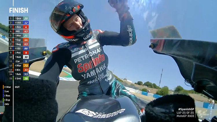 Marquez Kecelakaan, Quartararo Juarai MotoGP Spanyol