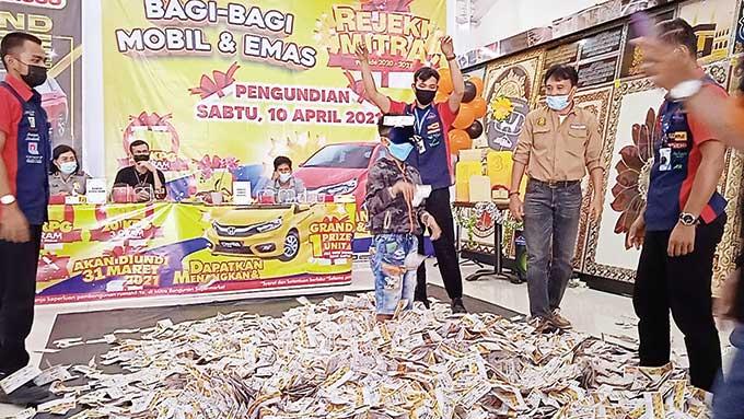 Mitra Bangunan Supermarket Undi Program Rezeki Mitra