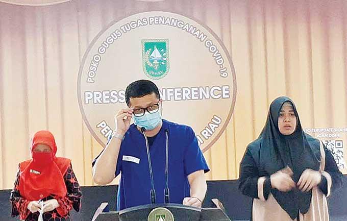 Kasus Harian Covid-19 di Riau Dekati Angka Kritis