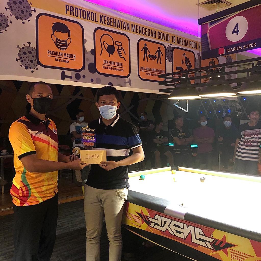 Atlet PON Riau Juarai Open Turnamen 9 Ball Penutup Tahun 2020 Riau