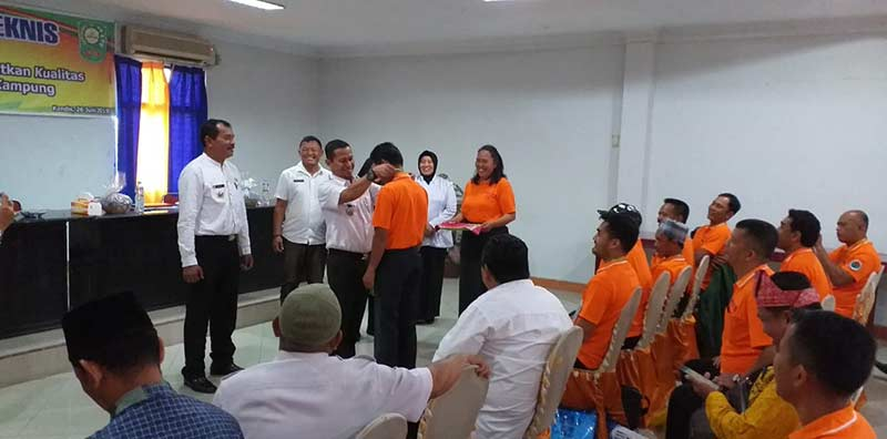 Camat Kandis Buka Penyuluhan dan Pelatihan Kader Teknis Kampung