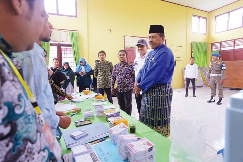 Alfedri Lakukan Monitoring Pemilihan Penghulu Kampung