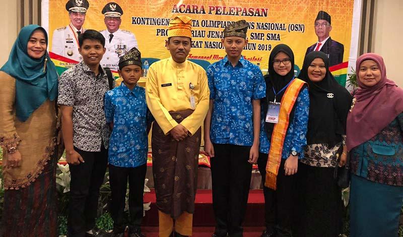 Tiga Siswa SMP Tualang Wakili Riau OSN Tingkat Nasional