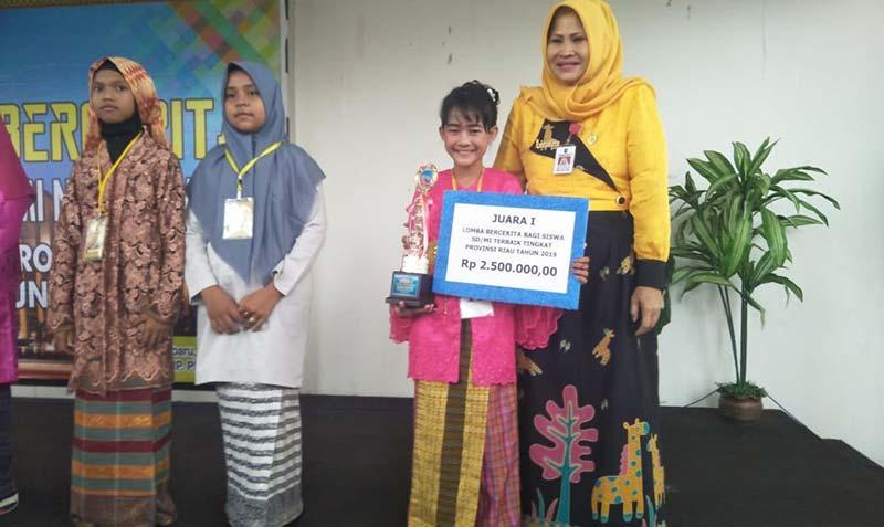 SDN 6 Perawang Juara I Lomba Bercerita Se-Provinsi Riau