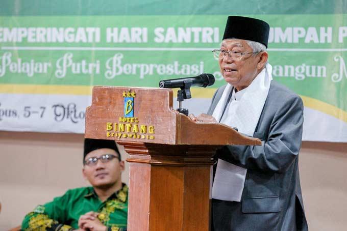 Dilarang, Ma�ruf Amin Tegaskan Tetap Kampanye di Pesantren