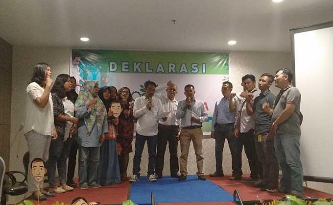 Poros Hijau Indonesia Riau Deklarasi Dukung Capres 01