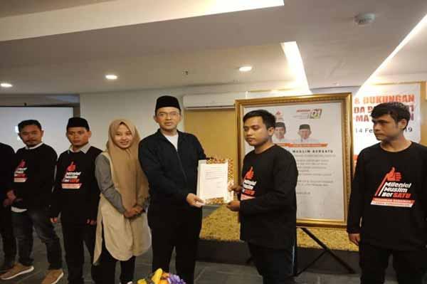 Ratusan Relawan Milenial Muslim Bersatu Dukung Paslon 01