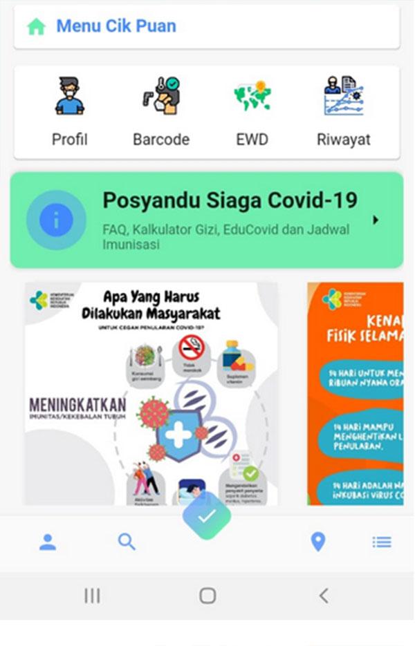 Pantau Covid-19 Lewat Aplikasi Cik Puan