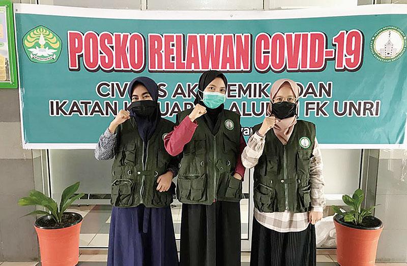 Mahasiswa KKN Relawan Berikan Edukasi Seputar Disinfektan