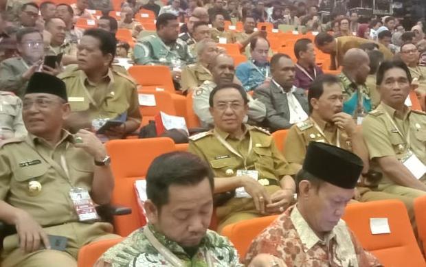 Bupati dan Fokopimda Ikuti Rakornas Bersama Presiden