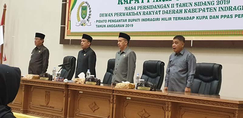 Bupati Sampaikan KUPA dan PPAS Perubahan APBD 2019