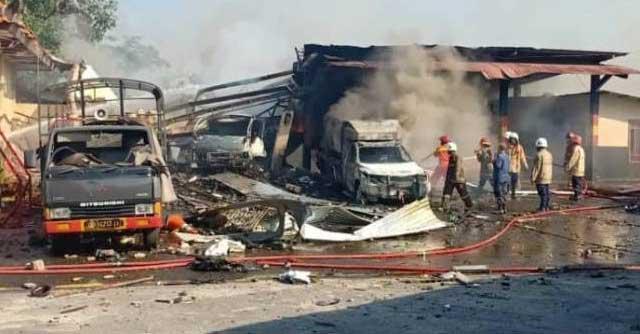 Satu Cedera, Akibat Pecahan Kaca dari Ledakan Gudang Amunisi Semarang