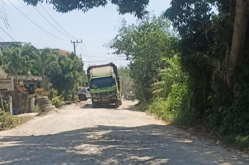 Pembangunan Jalan Azki Aris Rengat Kembali Dilanjutkan