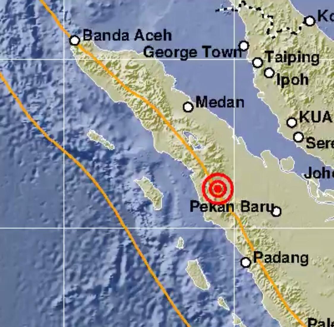 Gempa 5,6 SR Padang Lawas, Warga Pekanbaru Rasakan Gedung dan Kaca Bergoyang