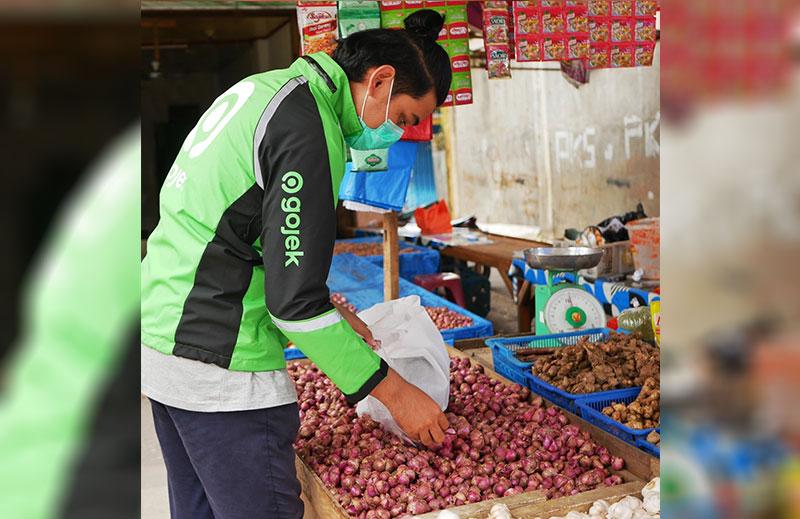 Pasar Tradisional Manfaatkan Ojol