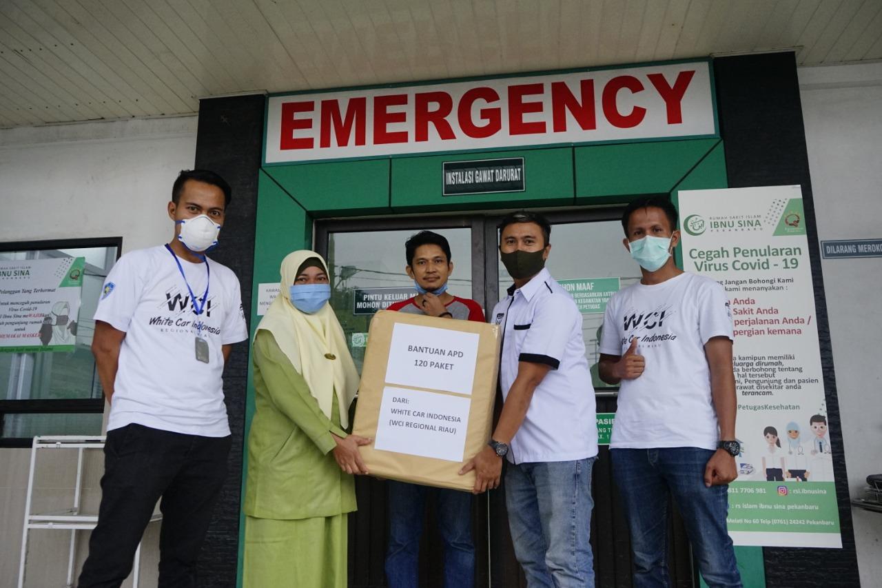 PFI Pekanbaru, Rumah Sakit dan Penggali Kubur dapat Bantuan Baju Hazmat
