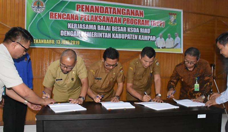 Pemkab Kampar-BKSDA Riau MoU