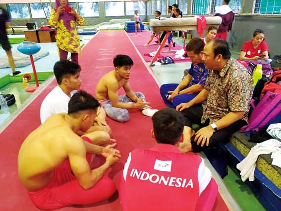 Motivasikan Atlet Senam Asian Games 2018