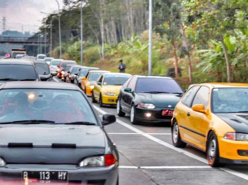 Konvoi Estilo Terpanjang di Indonesia Hadiri Gathnas VI
