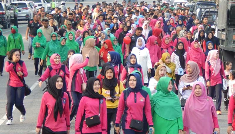 Bazar Murah dan Olahraga Bersama Jelang HUT ke-73 Bhayangkara