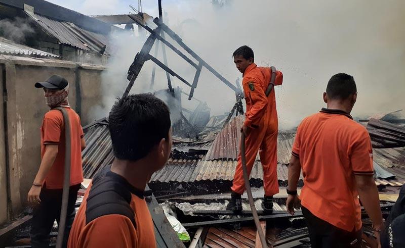 Satu Unit Bangunan di Tanjung Harapan Terbakar