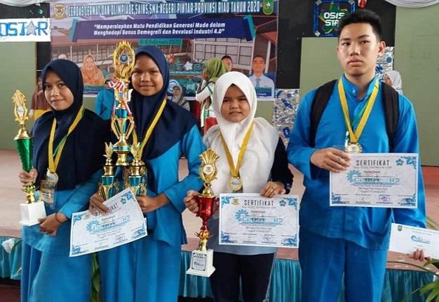 SMPN 1 Kuantan Hilir Juara Umum Olimpiade Kabupaten