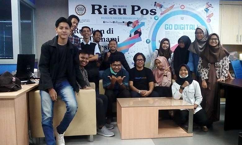 HPM TBK Pekanbaru Kunjungan ke Riau Pos Bahas Hoaks
