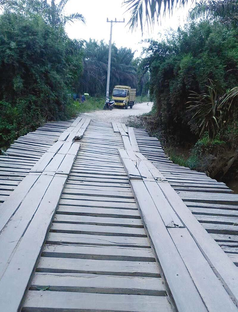 Jalan Petapahan-Kota Batak Rusak Parah
