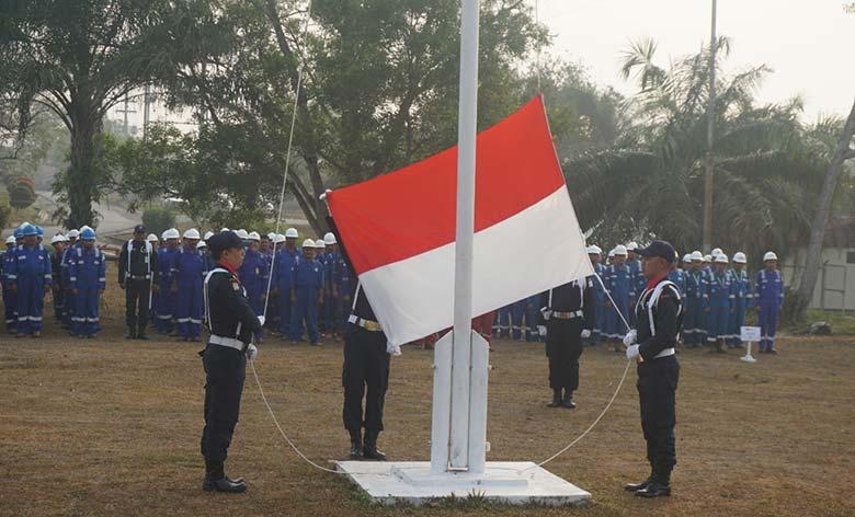 BOB PT BSP Gelar Upacara HUT RI ke-74 di Camp Zamrud